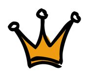 Crown. Sketch style yellow and black crown