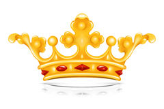 Crown. Illustration golden crown, isolated object Royalty Free Stock Photo
