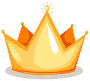 Crown. Illustration of isolated  a crown on white background Stock Photography