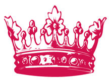 Crown. Drawing of beautiful crown in a white background Stock Image