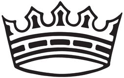 Crown. Is The Symbol Of A Sovereign - Retro Ad Art Illustration royalty free illustration
