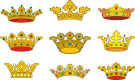 Crown. European  heraldic  crown, coat of arms detail Stock Photography