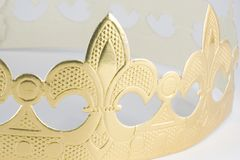 Crown. A close up on a white background Stock Photography