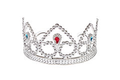 Crown. Silver Crown, photo on white background Stock Photo