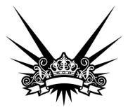 Crown. (illustration,  vector,  design,   retro,  tattoo Stock Photography