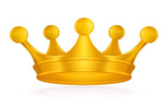 Crown. Coat of arms, computer illustration, isolated on the white Royalty Free Stock Photography