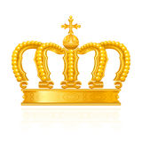 Crown. Computer illustration, isolated on the white Royalty Free Stock Photography