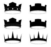 Crown. Created in Illustrator. This image for design logo or ohter illustration. Have a illustrator Royalty Free Stock Images