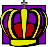 Crown. Colorful illustration of a crown Royalty Free Stock Photography