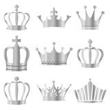 Crown. Isolated illustration of a silver crown Stock Photos
