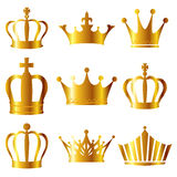 Crown. Icon illustration of shining golden crown Stock Photo