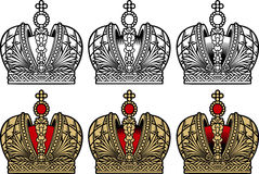 Crown. Engrawing picture. Vector illustration Stock Images