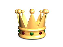 Crown. 3d image, Royal crown, isolate bg Royalty Free Stock Image