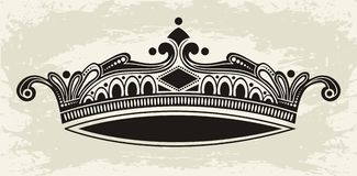 Crown. Vector for label element with text or else Royalty Free Stock Images