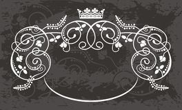 Crown. Vector for label element with text or else Stock Image