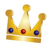 Crown. Golden crown vector illustration isolated over white background Stock Photo