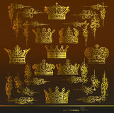 Crown,Area,gold Royalty Free Stock Photos
