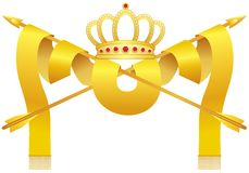 Crown and arrows Stock Images