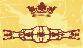Crown and artistic design Royalty Free Stock Images