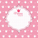 Crown Background Vector Illustration公主。 向量例证