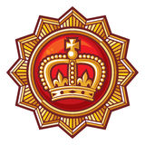Crown badge Royalty Free Stock Photo