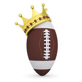 Crown on the ball for American football Royalty Free Stock Photography