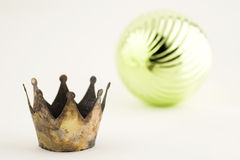 Crown and Ball. Where has the prince gone Stock Photography