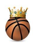 Crown on the basketball Balls Stock Image