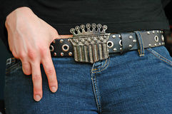 Crown Belt Buckle Royalty Free Stock Photos