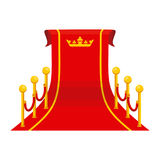 Crown big red carpet Royalty Free Stock Photography
