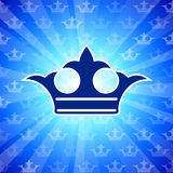 Crown on blue background Royalty Free Stock Photography