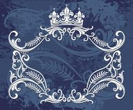 Crown border design Royalty Free Stock Photos