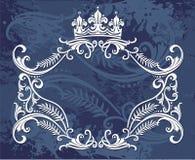 Crown border design Royalty Free Stock Photos
