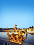 The crown on a bridge in Stockholm Royalty Free Stock Photography