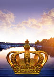 The crown on a bridge in Stockholm Stock Photography