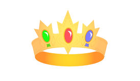 Crown with brilliant stones Royalty Free Stock Images