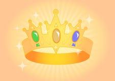 Crown with brilliant stones Stock Photo