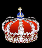 Crown with brilliants. Illustration an imperial crown with brilliants on a black background Royalty Free Stock Photo