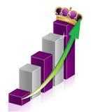 Crown business graph Stock Photos