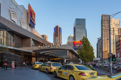 Crown Casino entrance, Melbourne CBD Royalty Free Stock Image