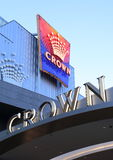 Famous Crown casino hotel Melbourne Stock Photos