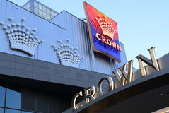 Famous Crown casino hotel Melbourne Stock Images