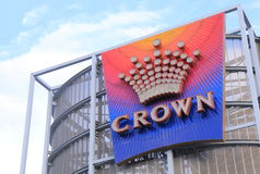 Famous Crown casino hotel Melbourne Royalty Free Stock Images