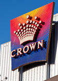 Crown Casino Sign, Melbourne - January 28, 2010 Royalty Free Stock Photo