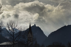 Crown castle zams. Rain clouds over crown castle in zams, tyrol Stock Images