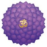 Crown Chakra Aum Symbol Lotus Sahasraha royalty free illustration
