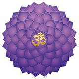 Crown Chakra Aum Symbol Lotus Sahasraha Stock Image