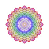 Crown Chakra Rainbow Colors isolated. Illustration of the crown chakra with rainbow colors Royalty Free Stock Image