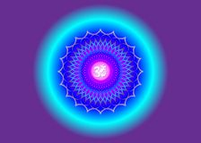Free Crown Chakra Sahasrara. 7th Chakra Is Located At The Top Of The Head. It Represent States Of Higher Consciousness And Divine Icon Royalty Free Stock Photo - 162962695