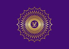 Free Crown Chakra Sahasrara. 7th Chakra Is Located At The Top Of The Head. It Represent States Of Higher Consciousness And Divine Icon Stock Image - 162966451